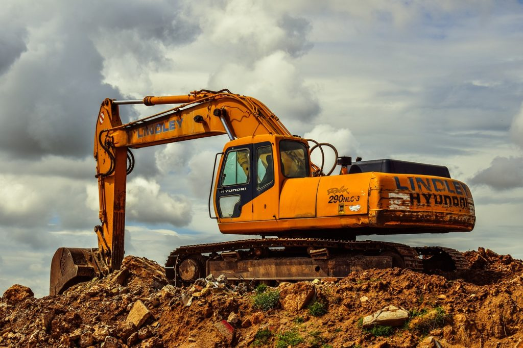 excavator, heavy machine, equipment